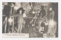 MINES D'OR DE CHENI,PRES DE SAINT YRIEIX  87  CHANTIER D'ABATTAGE A 130 METRES - Saint Yrieix La Perche