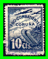 ESPAÑA BONITO DE 10 CENTIMOS SELLO LOCAL - PRO - COMBATIENTES - CORUÑA - Tasse Di Guerra