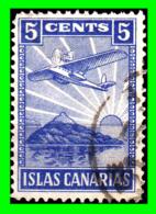 ESPAÑA  SELLO DE 5 Ctm. ((  ISLA CANARIAS  )) GUERRA CIVIL AZUL - Tasse Di Guerra