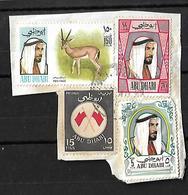 Abu Dhabi 1967 Flags ,1972 70 Fills, 5f, 150f ANIMALS HORSES Very Fine Used - Abu Dhabi