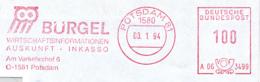 Freistempel 9186 Eule Bürgel - Poststempel - Freistempel