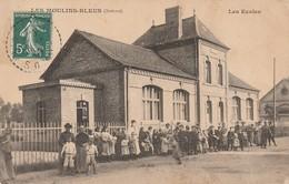 1-6---les Moulins Bleus--80-- Les Ecoles-carte Tres Rare-----livraison Gratuite - Francia