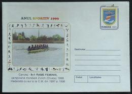 Entiers Postaux – Aviron, Champion Du Monde Zurich, Equipe Féminine Roumanie (rowing, Canoeing) - Roeisport