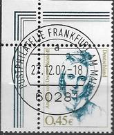 2002 Allem. Fed. Yv. 2123-5 Mi.  2295-7 FD Used Frankfurt EOR Frauen Der Deutschen Geschichte - Gebruikt