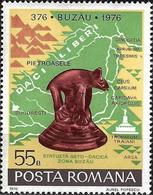 1976 - ARCHEOLOGY - BUZAU, 1600th ANNIVERSARY - GETO-DACIAN STATUE - Ungebraucht