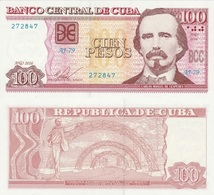 CUBA 100 Pesos P 129 H 2016 UNC - Cuba