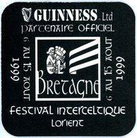France. Guinness Ltd. Partenaire Officiel Festival Interceltique Lorient. Bretagne. 6 Au 15 Août 1999. - Sous-bocks