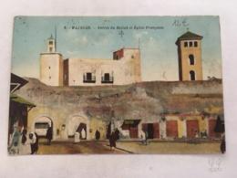 CPA - MAROC - MAZAGAN - 2 - Entrée Mellah Et Eglise Francaise - Autres