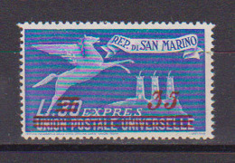 SAN MARINO 1947  ESPRESSO FRANCOBOLLO SOPRASTAMPATO SASS. 18 MNH XF - Sellos De Urgencia