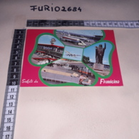 C-89825 FIUMICINO SALUTI DA AEREOPORTO PANORAMA AEREI - Fiumicino