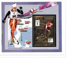 Madagascar 1994 Lillehammer Olympic Games Gold Souvenir Sheet MNH/** (H30) - Winter 1994: Lillehammer