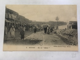 "CPA - MAROC - MEKNES - 8 - Rue Du ""Mellah"" - Meknès"