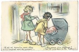 GERMAINE BOURET  Il Est Né Dans La Cave Alors On L'a Baptisé Avec Du Pinard - He Came In A Cabbage? -  Postée En 1940 - Bouret, Germaine
