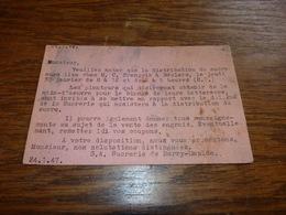 BC1_1_3  Carte Annonce Distribution / Rationnement De Sucre S.A. Sucrerie De Barry-Maulde 1947 - 1er Avril - Poisson D'avril