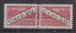 SAN MARINO 1945 PACCHI POSTALI TIPO DEL 1928 DENTELLATI IN MEZZO SASS. 18  MLH VF - Colis Postaux