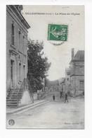 36   VILLENTROIS  LA PLACE DE L'EGLISE   BON ETAT    2 SCANS - Other Municipalities