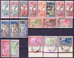 Guyane Francaise 1929-1940 Lot De La Série Courante Incluant Valeur Clé Yv 125, Mi 136 Oblitéré O - Französisch-Guayana (1886-1949)