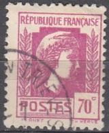 France 1944 Yvert 635 O Cote (2015) 0.15 Euro Marianne D'Alger Cachet Rond - Usados