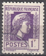 France 1944 Yvert 637 O Cote (2015) 0.30 Euro Marianne D'Alger Cachet Rond - Usados