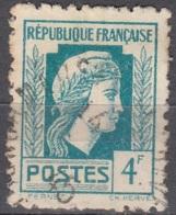 France 1944 Yvert 643 O Cote (2015) 0.30 Euro Marianne D'Alger Cachet Rond - Usados