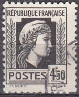 France 1944 Yvert 644 O Cote (2015) 0.15 Euro Marianne D'Alger Cachet Rond - Usados