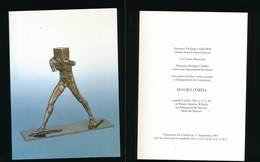 Carton D'invitation Inauguration Exposition 1991 Mauro CORDA- Mont-de-Marsan - Bronces