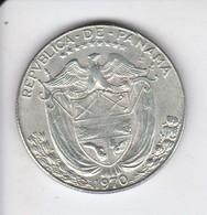 MONEDA DE PLATA DE PANAMA DE 1/2 BALBOA DEL AÑO 1970  (COIN) SILVER-ARGENT - Panama