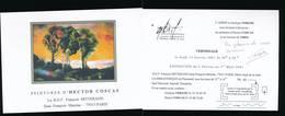 Carton D'invitation Vernissage Exposition  Hector COSCAS -BNF-2001 - Otras Colecciones