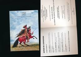 Carton D'invitation Exposition Les Indiens -  Chef Des Sauks  George CATLIN- Boulogne Billancourt 1999 - Other Collections