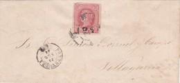 PONTEVEDRA CAPITAL A VILLAGARCIA DE AROUSA ANNEE 1864. ENVELOPPE ESPAGNE RARE CIRCULEE. FULL CONTENT INSIDE -LILHU - 1868-70 Gobierno Provisional