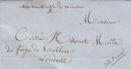 BILBAO A FORGES DE VAUBLANC A LOUDEOC, ANNEE 1859. ENVELOPPE PRECURSEUR ESPAGNE CIRCULEE. FULL CONTENT INSIDE -LILHU - Storia Postale