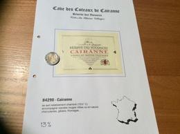 Etiquette De Vin «CÔTES-DU-RHÔNE VILLAGES - CAIRANNE - RÉSERVE DES VOCONCES -CAVE DE CAIRANNE (84)» - Côtes Du Rhône