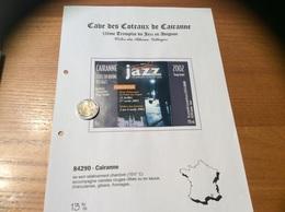 Etiquette De Vin 2002 «CÔTES-DU-RHÔNE VILLAGES - CAIRANNE - Tremplin JAZZ AVIGNON 2003 -CAVE DE CAIRANNE (84)» Musique - Côtes Du Rhône