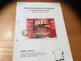 Etiquette De Vin 2001 «CÔTES-DU-RHÔNE VILLAGES - CAIRANNE - Tremplin JAZZ AVIGNON 2002 -CAVE DE CAIRANNE (84)» Musique - Côtes Du Rhône