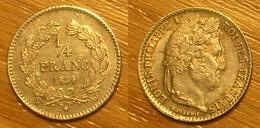 Louis-Philippe Ier - Quart De Franc 1834W - France