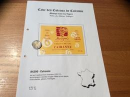 Etiquette De Vin 2001 «CÔTES-DU-RHÔNE VILLAGES - CAIRANNE - Musiques Dans Les Vignes 2002 - CAVE DE Cairanne (84)» - Côtes Du Rhône