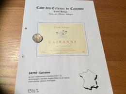 Etiquette De Vin «CÔTES-DU-RHÔNE VILLAGES - CAIRANNE - Cuvée Antique - Cave De Cairanne (84)» - Côtes Du Rhône