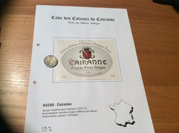Etiquette De Vin 2000 «CÔTES-DU-RHÔNE VILLAGES - CAIRANNE - Cave Des Côteaux - Cairanne (84)» - Côtes Du Rhône