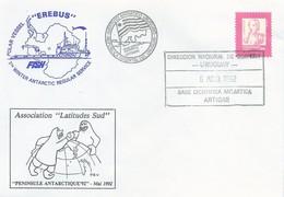 "Lettre Polar Vessel ""EREBUS"" Avec Timbre Uruguay N°1287 - Cachet Base Cientifica Antartica Artigas Du 06/05/1992 - Polar Ships & Icebreakers"