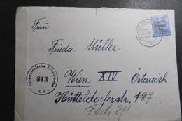 SBZ Mi. 194 Als EF Auf Zensurbrief Von Wolfen 20.4.1949 Nach Wien - Soviet Zone
