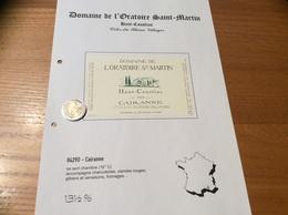 Etiquette Vin 1999 «CÔTES-DU-RHÔNE VILLAGES - CAIRANNE -DOMAINE DE L'ORATOIRE ST MARTIN- Haut Coustias -F&F ALARY (84)» - Côtes Du Rhône