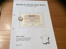 Etiquette Vin 1997 «CÔTES-DU-RHÔNE VILLAGES - CAIRANNE -DOMAINE DE L'ORATOIRE ST MARTIN- F Et F ALARY - Cairanne (84)» - Côtes Du Rhône