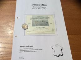 Etiquette Vin 2001 «CÔTES-DU-RHÔNE VILLAGES - CAIRANNE -DOMAINE DANIEL ET DENIS ALARY- RÉSERVE DU VIGNERON (84)» - Côtes Du Rhône