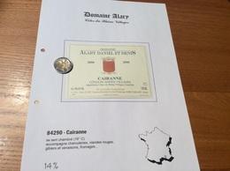 Etiquette Vin 2000 «CÔTES-DU-RHÔNE VILLAGES - CAIRANNE -DOMAINE DANIEL ET DENIS ALARY- Cairanne (84)» - Côtes Du Rhône
