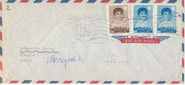 Iran Air Mail Cover Sent Air Mail To Denmark - Iran