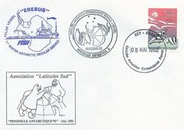 "Lettre Polar Vessel ""EREBUS"" Avec Timbre Brésil N°2007 - Cachet Estaçao Antartica Comandante Ferraz Du 08/05/1992 - Polar Ships & Icebreakers"