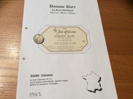 Etiquette Vin 1999 «CÔTES-DU-RHÔNE VILLAGES - CAIRANNE -DOMAINE DANIEL ET DENIS ALARY- La Front D'Estévenas (84)» - Côtes Du Rhône