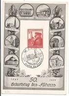 Deutsches Reich Germany DR Mi.691 Karte 50. Geburtstag Commemorative Postcard 1939 - Duitsland