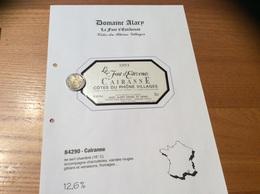 Etiquette Vin 1993 «CÔTES-DU-RHÔNE VILLAGES - CAIRANNE -GAEC ALARY DANIEL ET DENIS- La Front D'Estévenas (84)» - Côtes Du Rhône