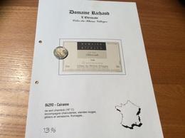 Etiquette Vin 1998 «CÔTES-DU-RHÔNE VILLAGES - CAIRANNE -DOMAINE RICHAUD - CUVÉE L'Ebrescade -M RICHARD - Cairanne (84)» - Côtes Du Rhône